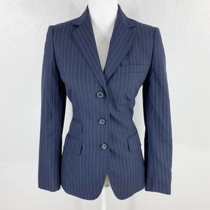 Brooks Brothers 346 navy pinstripe wool blazer